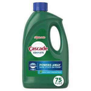Cascade Complete Dishwasher Gel Dishwashing Detergent W Dawn Fresh Scent 75 oz
