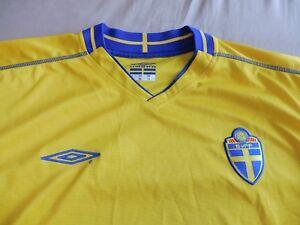 Beau Maillot __ Maillot National Suède __ Manches Courtes__ Gr. XXL __