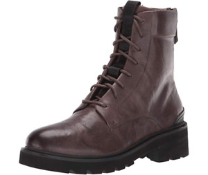 Frye Allison Women's Leather Combat Boots Brown