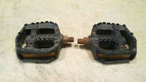 "Old School BMX Wellgo 1/2"" LU-470 Pedals w/ Hearts"