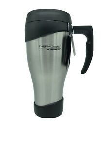 NEW Thermos 24oz ThermoCafe Stainless Steel Travel Mug Stainless Steel Black Lid