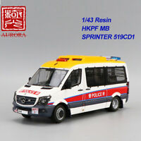 AURORA 1/43 Resin Police Truck Model Collectio HKPF MB Sprinter 519CDI(Airport)