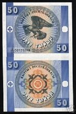 KYRGYZSTAN 50 TYIYN P3 1993 X 100 PCS LOT EAGLE FIRST ISSUE UNC FULL BUNDLE NOTE