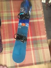 snowboard option 64 supercharger all mountain board with extra large bindings