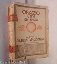ODI ED EPODI Orazio Alberto Mocchino Mondadori 1939 libro di classici latino