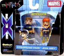 miniMates Cyclops No Visor Jean Grey Figure Set Marvel  X-Men Variant .
