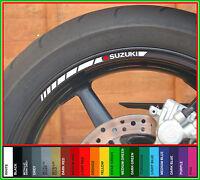 8 x SUZUKI Wheel Rim Stickers Decals - gsxr 600 750 1000 bandit v-strom sv s r