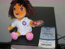 Ty Beanie Baby ~ DORA CHICAGO CUBS 2009 w/ Full Ticket Stub SGA (7 Inch) MWMT