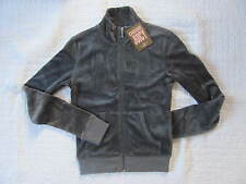New with tags Juicy Couture Women Velour Jacket size P(xs) Coal/Gray Green