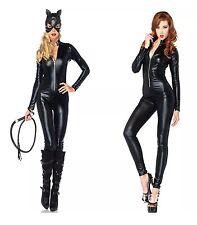 Sexy Womens Halloween Fancy Dress Catwoman Wild Costume Cat CosplayS/M 105