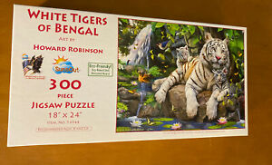 SunsOut 300 Piece Puzzle Called White Tigers of Bengal