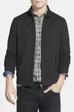 Ben Sherman M Sweater Jacket Mockneck Stretch Black Cotton Blend Zipper Medium