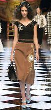 DOLCE & GABBANA Wonderland patch dress Black & Brown Size IT 40, US 6, UK 8
