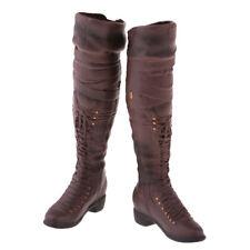 1/6 Scale Model 3.7cm Knee-high Boot for 12'' Phicen Kumik Hot Toys Brown
