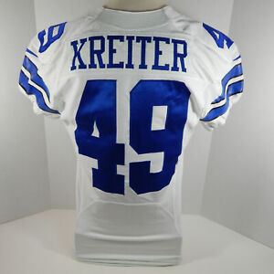 2015 Dallas Cowboys Casey Kreiter #49 Game Issued White Jersey