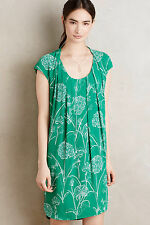 NWT ANTHROPOLOGIE Au Revoir Dress by Maeve, Size 2, Green Floral