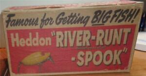 Heddon  Dealer Box River-Runt Spook Fishing Lure  #1