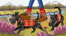 BOTHY THREADS HIGHLAND WALKIES COUNTED CROSS STITCH KIT BY JULIA RIGBY XJR31