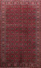 Geometric Semi Antique Anatolian Turkish Oriental Area Rug Hand-knotted WOOL 6x9