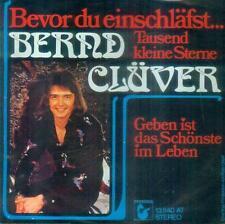 """7"""" Bernd Clüver/Bevor Du Einschläfst"""