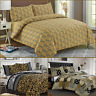 Luxury Gold 100% Egyptian Cotton Printed Duvet Cover Sets Bedding Sets All Sizes