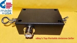 ALL STAINLESS HARDWARE End Fed Dipole 80-6M Portable HF Matchbox.
