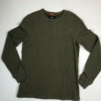 Jack Spade Mens Small Long Sleeve Waffle Crew neck Shirt Green $98 Tag New