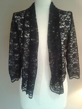 BLACK LACE COAST COVER UP JACKET SIZE 10 BNWTS