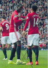 MANCHESTER UNITED HAND SIGNED PAUL POGBA 12X8 PHOTO PROOF.