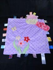 Taggies Peek a Boo Purple Giraffe Flowers Baby Blanket Lovey