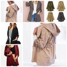 Windbreaker Women Warm Hooded parka Jacket Long coat Trench Outwear Fashion