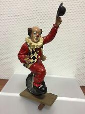 """Gilde Clown """" Eddi der Einradfahrer """" 26,7 cm. Top Zustand !!"""