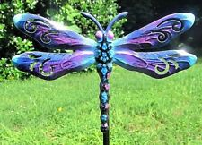 Dragonfly metal yard or garden stakes (C)