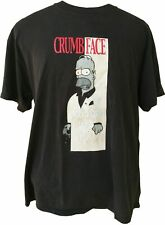 The Simpsons CRUMB FACE Scarface Homer Parody T-Shirt Men's XL *2002 Vtg