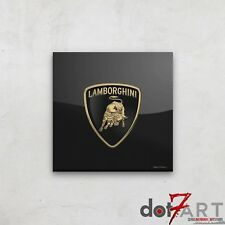 Lamborghini Badge Luxury Black Open Edition Print