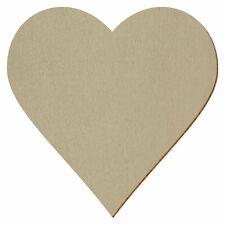 Bronzene Holz Herzen - Deko Zuschnitte Größenauswahl