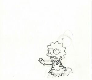 The Simpsons Original Production Animation Cel Drawing from Fox 325