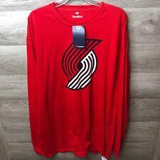 Fanatics Mens 2XL Damian Lillard Trail Blazers Long Sleeve T Shirt NEW