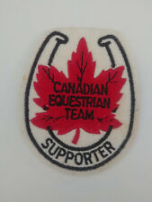 Canadian Equestrian Team Supporter Patch with Horseshoe Maple Leaf