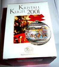 2001 Hutschenreuther Christmas Ornament Ball, Greenland, Hand Blown Crystal