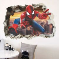 3D Abnehmbare Spiderman Wandaufkleber Vinyl Aufkleber Kinderzimmer Dekor  cRUWK