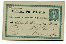 Canada QC Quebec - Kamouraska 1880 Split Ring Cancel - Locally Sent Postcard