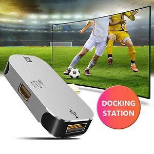 USB Type C Hub to 8K Mini DP 1.4 2.0 Port 100W PD 3 in 1 Adapter Docking Station