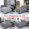 Black White Duvet Cover Pillow Case Quilt Cover Bedding Set