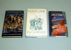 3 Book Signed Paul Quarrington WHALE MUSIC HOME GAME CIVILIZATION First Editions