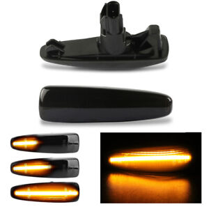 2X Sequential LED Side Marker Blinker Lights for Mitsubishi Lancer Evo X Mirage