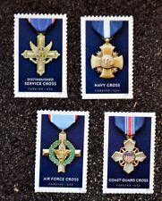 2016USA #5065-5068 Forever Service Cross Medals Honoring Heroism Set of 4 Single