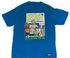 John Cena WWE Wrestling Hustle Loyalty Respect Never Give Up T-shirt Men's X-Lrg