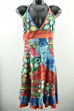 Desigual Women`s Long Dress Sleeveless V Neck Cotton size XL