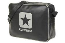 6a906d4c886 Converse Unisex Reporter Messenger School College Shoulder Strap Bag Black